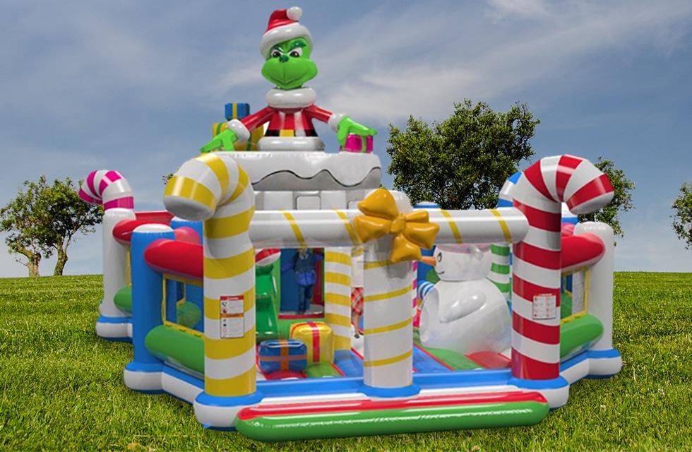 Château gonflable Grinch de Noël location anniversaire, fête et événement Catcha!