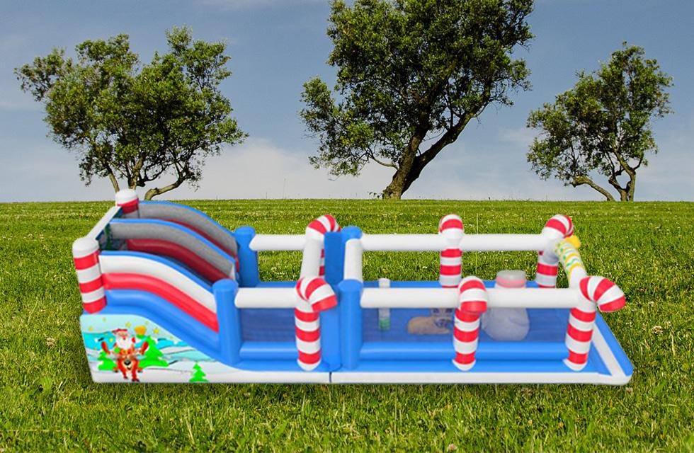 Château toboggan gonflable Noël location anniversaire, fête et événement Catcha!