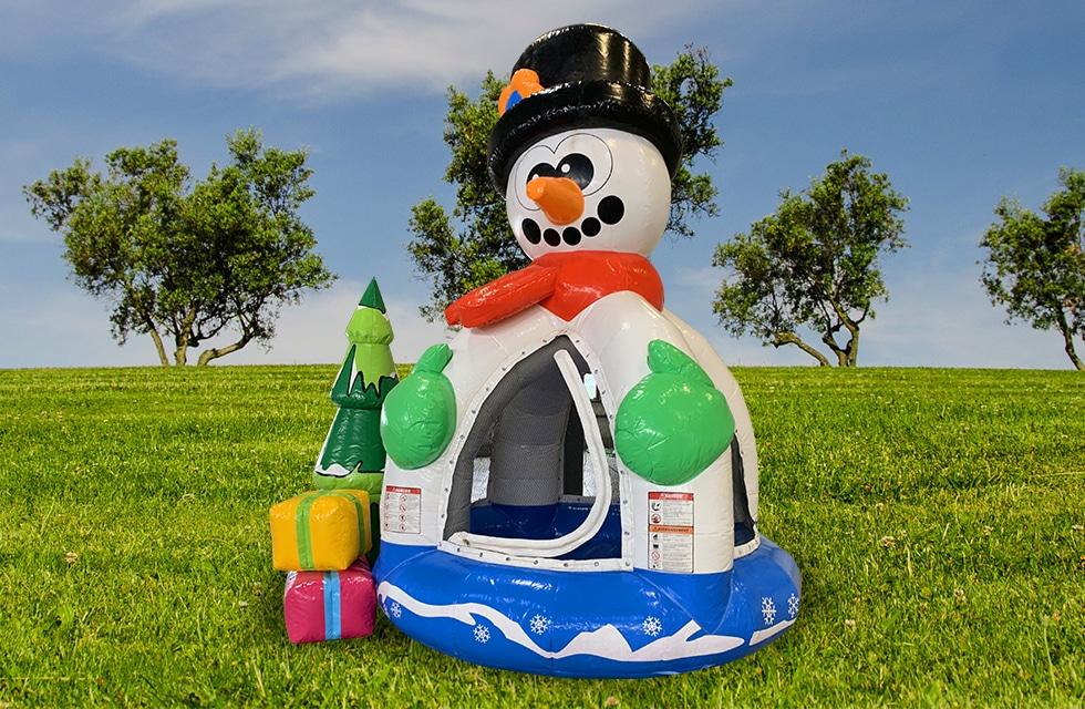 Château gonflable piscine à balles bonhomme neige anniversaire, fête et événement
